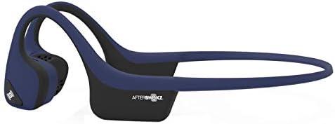 AfterShokz Trekz Air Open Ear Wireless Bone Conduction Headphones, Midnight Blue, AS650MB Renewed