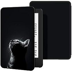 Ayotu Funda de Piel para Nuevo Kindle 10ª generación 2019-Funda Impermeable bellamente Pintada para Despertar/Dormir automáticamente (no Adecuado para los Modelos 2018),El Gato 2