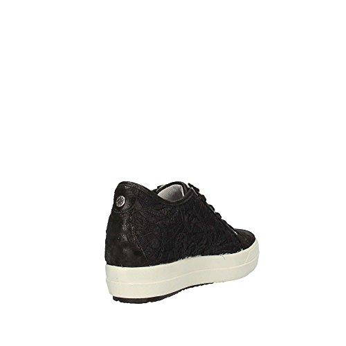 IGI&Co Sneakers Donna 1150100/DSY 11501NERO, Con Zeppa, Colore Nero Con Pizzo, Nuova Collezione Primavera Estate 2018 Schwarz