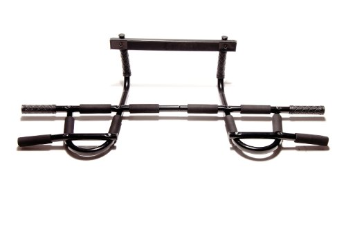 Functional Fitness Pull Up Bar for Doorway / Door Frame (No Screws) Perfect for Pull Ups, Chin Ups, Push Ups. Best Exercise Equipment for your Home Gym Pullups