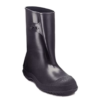 Tingley Rubber 35121 WorkBrutes PVC 1-Inch Overshoe with Button, XX-Large, Black (Made from PVC)