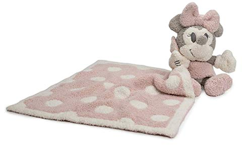 Barefoot Dreams CozyChic Vintage Minnie Mouse Blanket Buddie, Dusty Rose Barefoot Dreams Mini Blanket