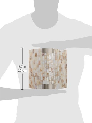 Lite Source LS-16381 Schale Wall Sconce Lite, White with Shell Shade by Lite Source (Image #1)