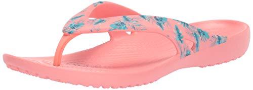 Crocs Women's Kadee2seaflpw Flip-Flop, Tropical/Melon, 4 M US ()