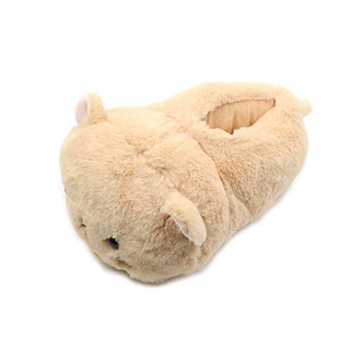 (GenePe Cute Winter Pink Ladies Hamster Winter Soft Plush Non-Slip Indoor Warm Slippers Hamster Rabbit Cat Style Plush Comfortable)