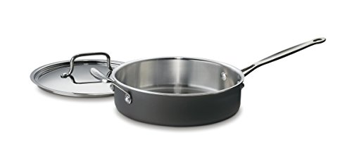 Cuisinart MCU33-24H MultiClad Unlimited Saute Pan with Helper and Cover, 3-Quart, Black (Cuisinart 3 Quart Saute Pan compare prices)