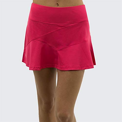 - Bollé Women's Viper Tennis Skirt With Front Seam Details and Short Inside, Tulip, Medium