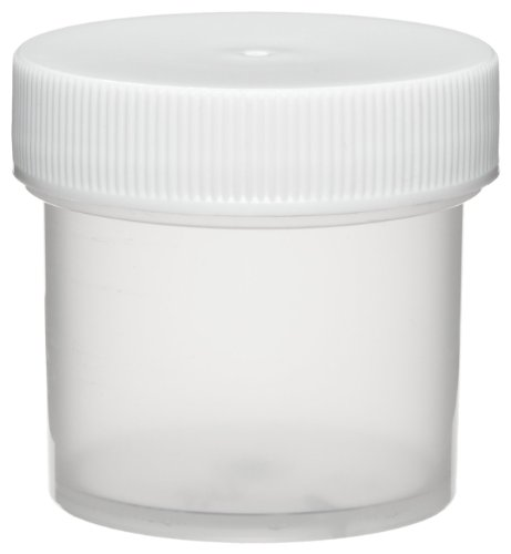Dynalon 421115 Polypropylene 1oz Hydrometer Cylinder Jar, with Screw Closure (Case of 72) by Dynalon