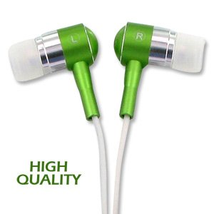 Noise Isolation HQ Metal Earbuds - Green
