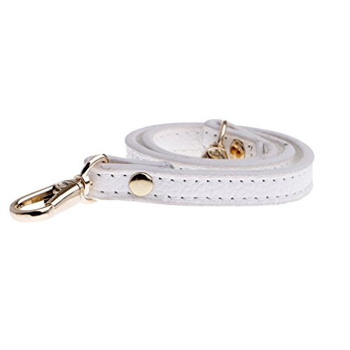 Buckles Sharplace Genuine Gold White Replacement Strap Accessories Leather Handmade Bag 0 coffee dark Shoulder Bag Crossbody 50cm described Wide as 39'' Bag Soft 1cm Strap Handle with 1xqrwFX1R