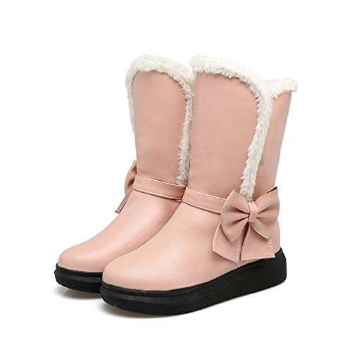 Xqy Gruesas Estudiantes Cálidas Botas Algodón Algodón Mujer Zapatos Para De Nieve Rosado Uso Doble Invierno 88xnrzq
