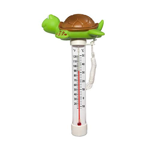 Daveyspa Floating Pool Thermometer, Shatter Resistant, for Outdoor & Indoor Swimming Pools, Spas, Hot Tubs, Jacuzzis & Aquariums (Tortoise) Upgraded Version