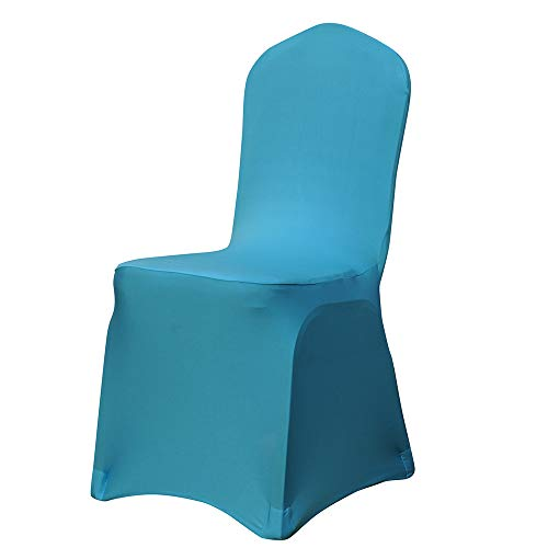 YJYdada Chair Covers Spandex Banquet Wedding Anniversary Party Decor (Sky Blue) ()