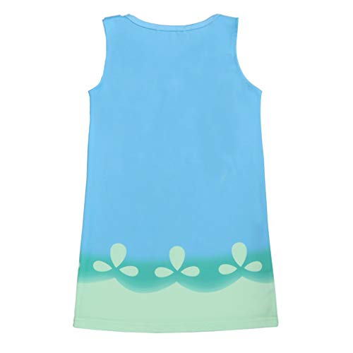 CosplayDiy Girl's Dress for Princess Trolls Cosplay Blue Dress Age 2+ (3T) - http://coolthings.us