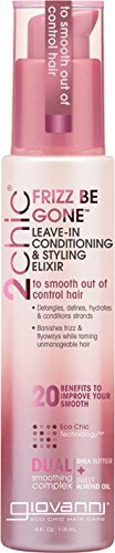 (Giovanni 2chic Frizz Be Gone Shea Butter & Sweet Almond Oil Leave-In Conditioner and Styling Elixir, 4 Ounce)
