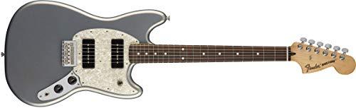 - Fender Mustang 90 Short Scale Electric Guitar - Pau Ferro Fingerboard - Silver