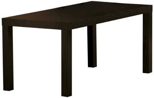 DHP Parsons Modern Coffee Table, Black Wood Grain - Living Room Mdf Table