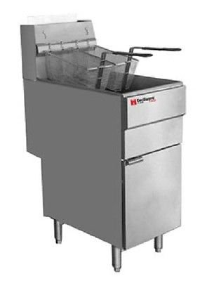 40 Lb Gas Fryer (Cecilware Commercial Heavy Duty 40 lbs Gas Deep Fryer NSF)