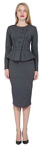 Jacket Skirt Suit - 2
