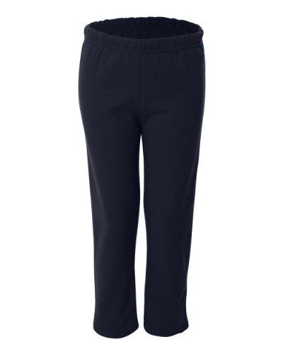 Gildan Activewear 7.75 oz. Heavy Blend 50/50 Open-Bottom Sweatpants, S, Navy (50 Open Bottom Sweatpants)