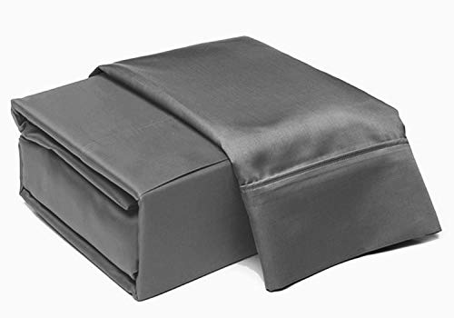 ADDY HOME FASHIONS 6 Piece Thread Count 100% Cotton Sheet Set, King, Charcoal