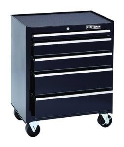 Craftsman 5 Drawer Rolling Bottom Tool Cabinet, Steel w/ Black Finish