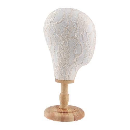ロゴルーム降下SM SunniMix マネキンヘッド ディスプレイ 帽子 ハット ウィッグ 収納 スタンド 展示ラック 4タイプ選べ - ホワイトスタンド