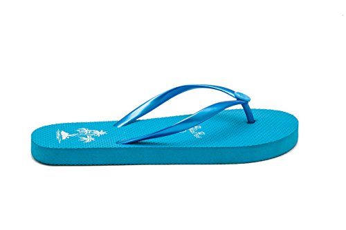 Shoes Flops Women Flip Fairee Beach For Pool Palm Summer Ladies Blue Pattern Tree Airee SxUzCREwqx