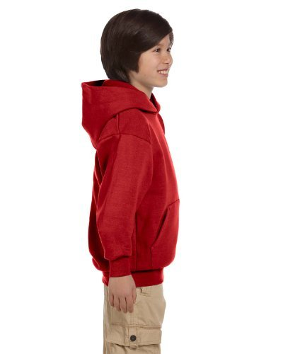 Hanes by Youth ComfortBlend EcoSmart Pullover Hoodie_Deep Red_XS