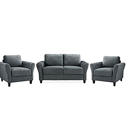 Phenomenal Amazon Com Home Square 3 Piece Sofa Set With Loveseat And Forskolin Free Trial Chair Design Images Forskolin Free Trialorg