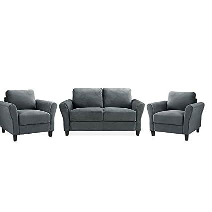 Wondrous Amazon Com Home Square 3 Piece Sofa Set With Loveseat And Machost Co Dining Chair Design Ideas Machostcouk