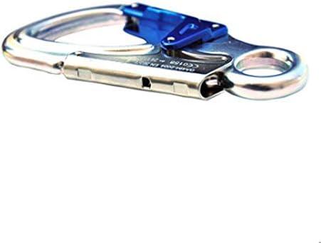 Kalmar カラビナ、紫色のアルミ合金の変形不可能なカラビナ、ガラスカーテンウォールの建設/建物の外装工事に適しています(紫、13.5 * 7.0 cm) Spring Snap Key Chain Clip Hook Screw Gate Buckle
