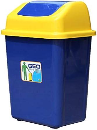 正方形のプラスチック屋外のごみ箱の特性のゴミ箱は大きい不用な及びリサイクルの堆肥の大箱のペーパー収納用の箱の青20L / 30Lできます (Color : Blue, サイズ : 16.94*12.21*23.64inchs)