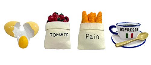 Ariston Refrigerator Drawers (VASTING ART 4-Pack Refrigerator Magnets, Pain Tomato Egg Coffee Shape Fridge Office Magnets for Magnetic Whiteboard Premium Acrylic Magnetic Cute Fun Decoration)