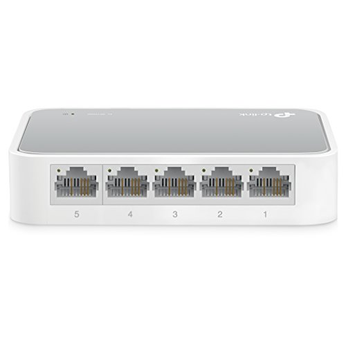 TP-Link 5-Port Fast Ethernet Unmanaged Switch | Plug and Play | Desktop (TL-SF1005D)