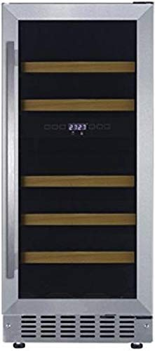Fagor WC28DZ 15 Inch Built-In and Freestanding Dual Zone Wine Cooler with 28 Bottle Capacity, in Stainless Steel