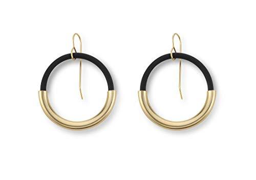 (Niv Jewelry Milano Earrings, 24-Karat Gold Round Hoop Earrings)
