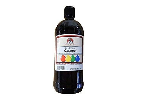 Chefs Quality Liquid Caramel Food Color 32 Oz Plastic Bottle by Chef's Quality
