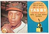 1960 Topps Regular (Baseball) Card# 322 willie tasby of the Baltimore Orioles VGX Condition