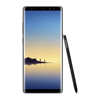 "Samsung Galaxy Note8 (US Version) Factory Unlocked Phone - 6.3"" Screen - 64GB - Midnight Black (U.S. Warranty)"