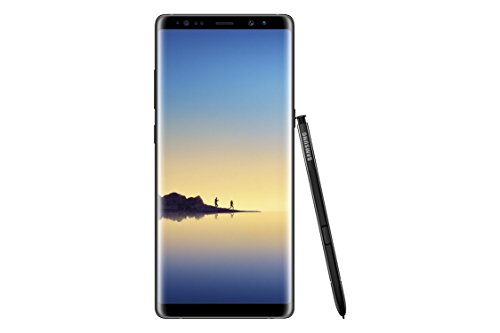 "Samsung Galaxy Note 8 Factory Unlocked Phone - 6.3"" Screen - 64GB - Midnight Black (U.S. Warranty)"