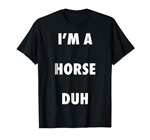 (Easy Halloween Horse Costume Shirt for Men Women)
