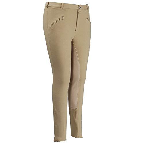 TuffRider Men's Cotton Full Seat Breeches (Long), Mudd, 38