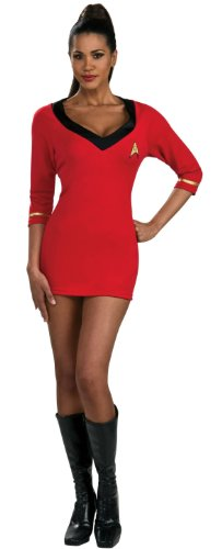 Science Fiction Costumes Female (Secret Wishes Womens Star Trek Uhura Costume, Red, Small)
