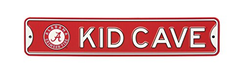 - Authentic Street Signs NCAA College Officially Licensed STEEL Kid Cave Sign-Decor for sports fan bed room! ... (Alabama Crimson Tide)
