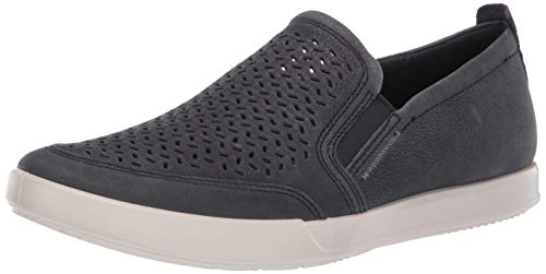 ECCO Men's Collin 2.0 Slip On Sneaker, Navy Perforated, 47 M EU (13-13.5 US)