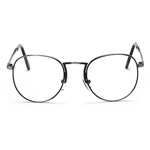 Xinvision Claro Hombre Lente Plata Vintage Mujer Eyewear Computadora Moda Gafas Retro Redondas Marco r4nSwrxq0z