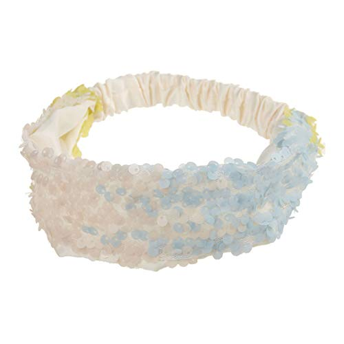 Reversible Sequin Girls Headband Mermaid Elastic Fabric Hairband Summer Style Wide Head Band For Female Women Hair Accessories 8