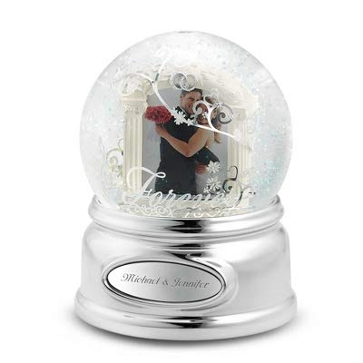 Things Remembered Personalized Forever Wedding Photo Musical Snow Globe with Engraving Included]()