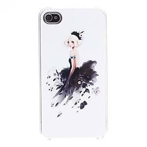 Elegant Lady Pattern Hard Case for iPhone 4/4S
